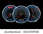 dashboard   speedometer ...   Shutterstock .eps vector #431554948
