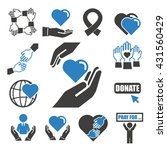 donate  charity icon set | Shutterstock .eps vector #431560429