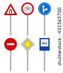 road signs set on a white... | Shutterstock .eps vector #431565700