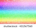 rainbow and pastel glitter... | Shutterstock . vector #431567560