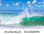 Beautiful Waves In The Warm Se...
