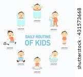 daily routine of kids... | Shutterstock .eps vector #431573668