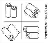 roll of wallpaper  icons. | Shutterstock .eps vector #431577130