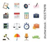 business icons set | Shutterstock .eps vector #431579698