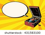 phonograph vinyl record player | Shutterstock .eps vector #431583100