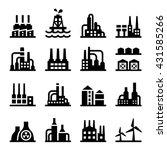 industrial building icon vector ... | Shutterstock .eps vector #431585266