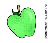 freehand drawn cartoon apple | Shutterstock .eps vector #431585470