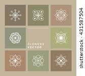 Set Of 8 Geometric Graphic...