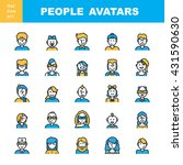 man s and women s pictogram. ... | Shutterstock .eps vector #431590630