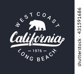 california handwritten... | Shutterstock .eps vector #431591686