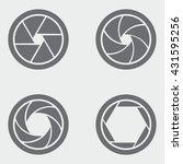 camera shutter icons | Shutterstock .eps vector #431595256