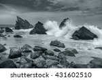 Black And White Artistic Ocean...