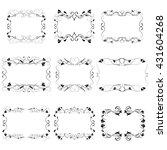 vector decorative frames | Shutterstock .eps vector #431604268