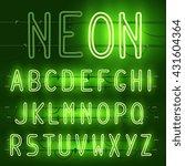 vector set of realistic neon... | Shutterstock .eps vector #431604364