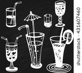 set of vector cocktails on... | Shutterstock .eps vector #431607460