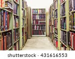 The Bookshelves In The School...