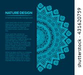 vector nature decor for your... | Shutterstock .eps vector #431620759