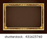 gold frame border photo vector... | Shutterstock .eps vector #431625760