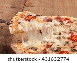 Close Up Af A Hot Pizza Slice...