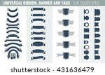 new vector set of ribbon ... | Shutterstock .eps vector #431636479