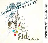 doodle based line art... | Shutterstock .eps vector #431639650