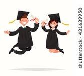 guy and girl university... | Shutterstock .eps vector #431639950