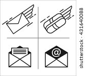 set of vector icons. mail. e... | Shutterstock .eps vector #431640088