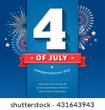 happy independence day card... | Shutterstock .eps vector #431643943
