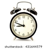 old fashioned alarm clock on... | Shutterstock . vector #431644579