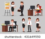 set of business people in... | Shutterstock .eps vector #431649550