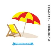umbrella chair icon vector... | Shutterstock .eps vector #431649856