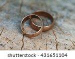 wedding rings | Shutterstock . vector #431651104