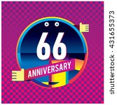 66th anniversary logo with...   Shutterstock .eps vector #431655373