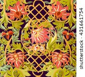 floral seamless pattern in... | Shutterstock .eps vector #431661754