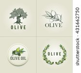 various olive logo design... | Shutterstock .eps vector #431662750