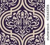 vector damask seamless pattern... | Shutterstock .eps vector #431663356