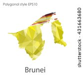 brunei map in geometric... | Shutterstock .eps vector #431663680