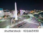 the obelisk of buenos aires ... | Shutterstock . vector #431665450
