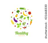 healthy food shop logo concept. ... | Shutterstock .eps vector #431668330