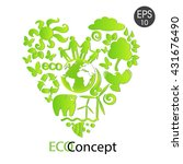 green eco earth  | Shutterstock .eps vector #431676490