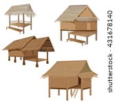 straw roof hut  vector design | Shutterstock .eps vector #431678140