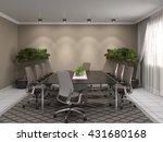 office interior. 3d illustration | Shutterstock . vector #431680168