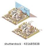 vector isometric infographic... | Shutterstock .eps vector #431685838