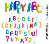 colorful alphabet. abstract... | Shutterstock .eps vector #431692360