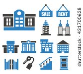 real estate  asset icon set | Shutterstock .eps vector #431700628