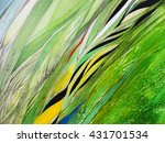 abstract painting handmade.... | Shutterstock . vector #431701534