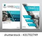 blue fold technology annual... | Shutterstock .eps vector #431702749