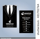 business card template. suits... | Shutterstock .eps vector #431702764