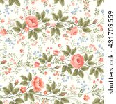 seamless floral pattern with... | Shutterstock .eps vector #431709559