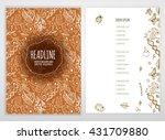 biology scientific brochure... | Shutterstock .eps vector #431709880